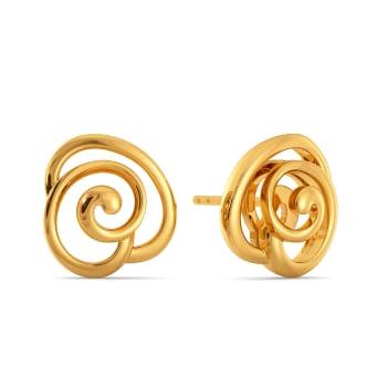Twirl A Rose Gold Earrings
