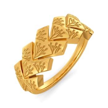 Organic Aura Gold Rings