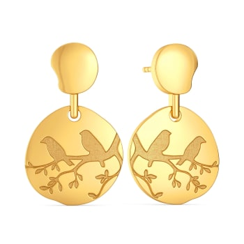 Nature At Work Gold Earrings