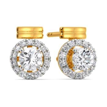 Poised Spheres Diamond Earrings