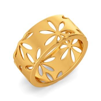My Kinda Scarf Gold Rings