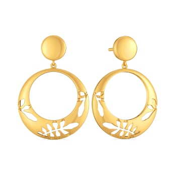 Scarf Mantra Gold Earrings