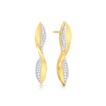 Twisted Tropical Diamond Earrings