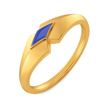 Denim Rules Gold Rings