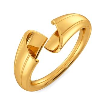Twirl in Tassels Gold Rings