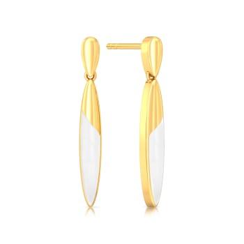 The Yin To Yang Gold Earrings