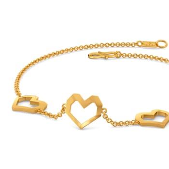 Hearty Hit Gold Bracelets