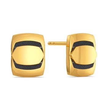 Boldly Black Gold Earrings