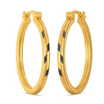 Black Beauty Gold Earrings