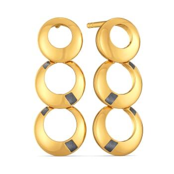 Raven Rebels Gold Earrings