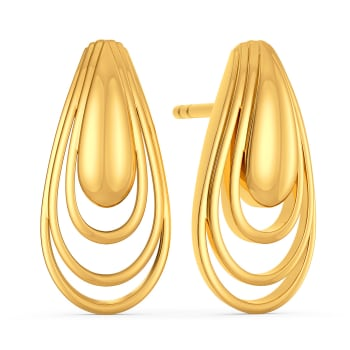 Debonair Dash Gold Earrings