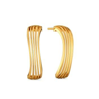 Subtle Sundress Gold Earrings