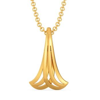 Subtle Sundress Gold Pendants
