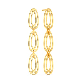 Chic Delights Gold Earrings