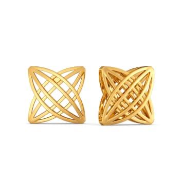 Sassy Chic Gold Earrings
