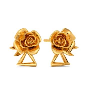 Roses of Grim Gold Earrings