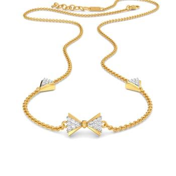 Cross Bows Diamond Necklaces
