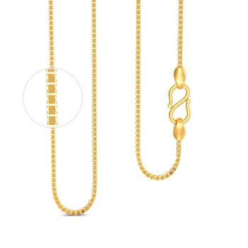 22kt Textured Box chain Gold Chains