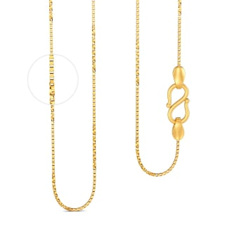 22kt Venetian Twist Half Chain Gold Chains