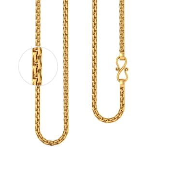 22kt Multi-Faceted Double Link Chain Gold Chains