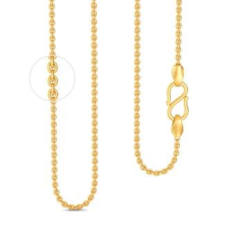 18kt Medium Round Anchor Chain Gold Chains