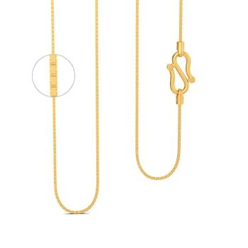 22kt Rectangular Box chain  Gold Chains