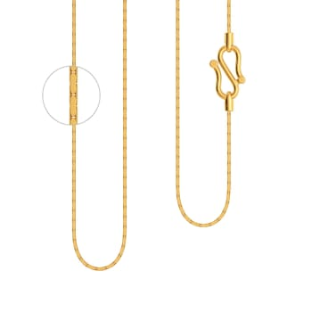 22kt Elongated Box chain  Gold Chains