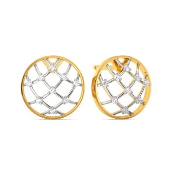 Crochet Nets Diamond Earrings