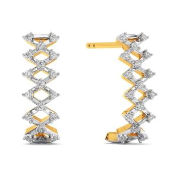 Crochet O Clock Diamond Earrings