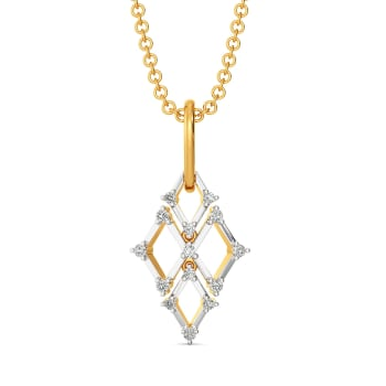 Crochet O Clock Diamond Pendants