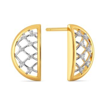 Crochet Corner Diamond Earrings