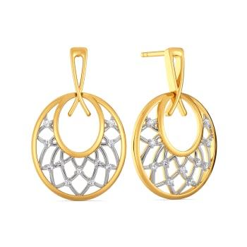 Two to Loops Diamond Earrings
