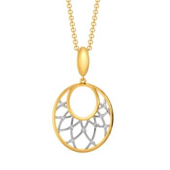 Two to Loops Diamond Pendants