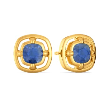 Parisian Blue Gemstone Earrings