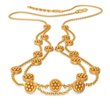 Floral Circles Gold Necklaces