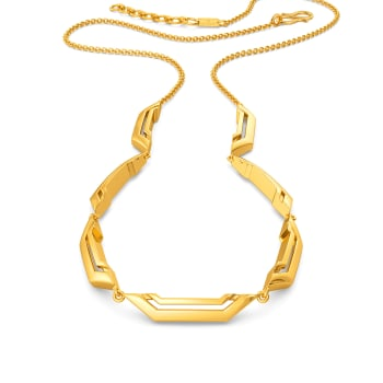 Quirky Crowd Gold Necklaces