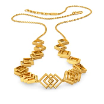 Rhomb Refresh Gold Necklaces