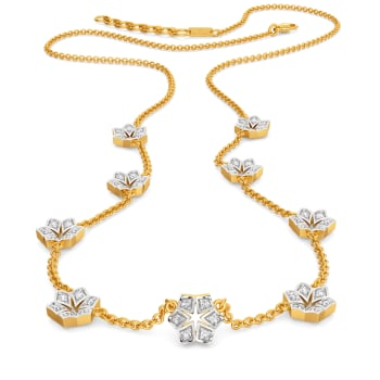 Snow Flake Diamond Necklaces