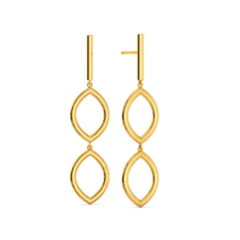 Link O Mark Gold Earrings