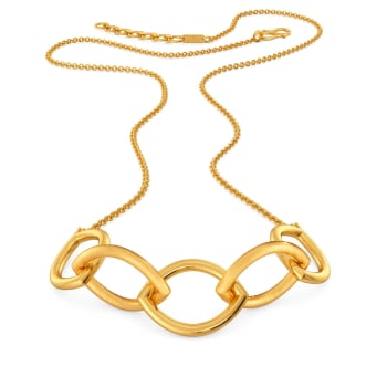Link O Mark Gold Necklaces