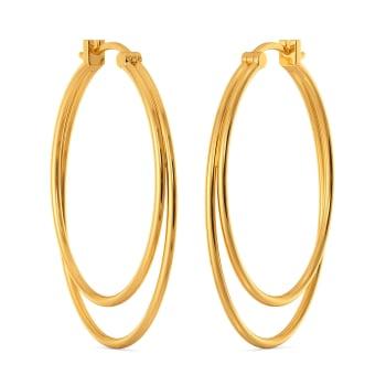 Club Nirvana Gold Earrings