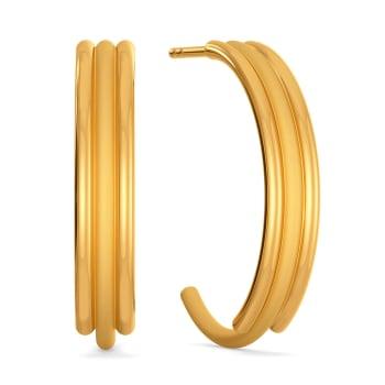 Matt Mirage Gold Earrings