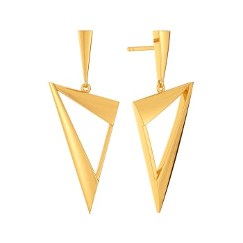 Cat Suit Gold Earrings