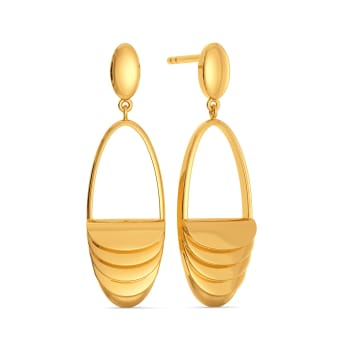 Suit for Cosmos Gold Earrings