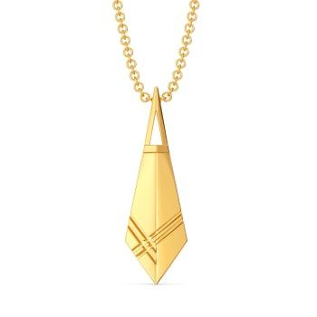Plaid Puns Gold Pendants
