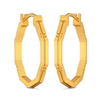Maverick Plaids Gold Earrings