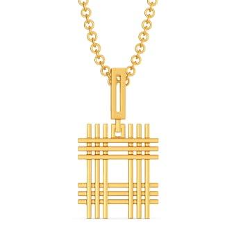 Cross Contours Gold Pendants