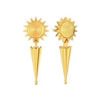 Sun N Spick Gold Earrings