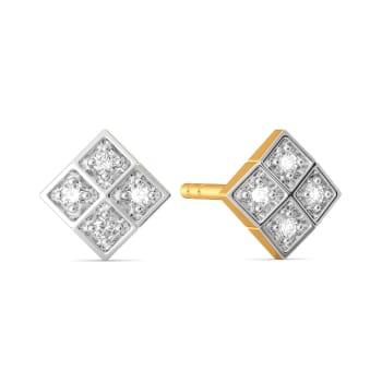 Wear N Square Diamond Earrings