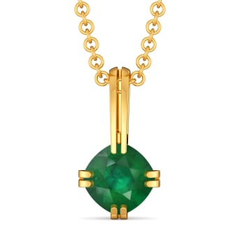 Green Grande Gemstone Pendants